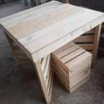 cafe pallet wood table