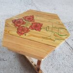 custom made tea table with drawing design