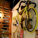 Custom make wooden bike rack for restaurant